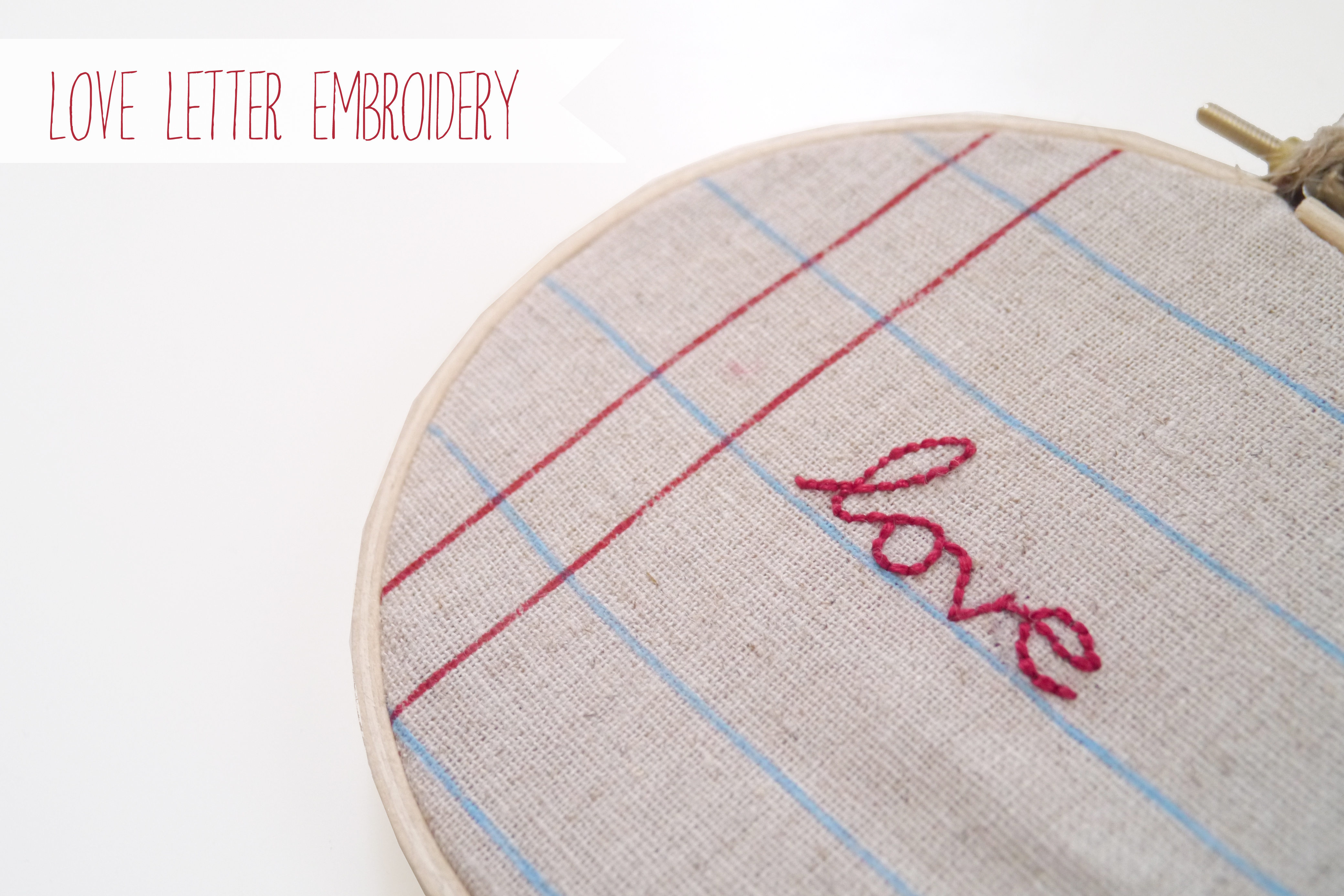 Love Letter Embroidery Bees Beautiful World